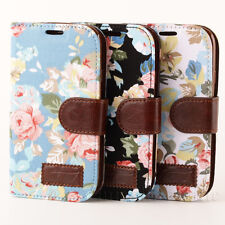 Flower Leather Flip Wallet Pouch Case Cover For Samsung Galaxy SIII S3 I9300