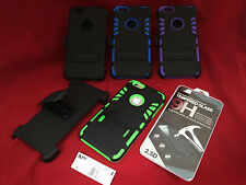 BELT CLIP HOLSTER ARMOR CASE TEMPER GLASS LCD SCREEN PROTECTOR FOR IPHONE 6 PLUS