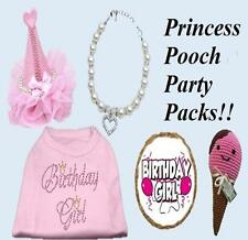 Dog Pet Puppy Birthday Girl Dog Party Pack Shirt Toy Treats Collar Hat Gift Set