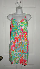 NWT LILLY PULITZER RESORT WHITE CHARLOTTE SILK DRESS M L $208