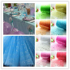 "5/100yard 6"" star sequin tulle Bridal Wedding Decoration fabric DIY party craft"