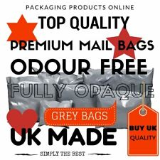 Strong Grey Plastic Mailing Postal Post Poly Bags wiith Self Seal ALL SIZES