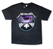 "METALLICA ""PURPLE MASTER OF PUPPETS"" iMAGE HEATHER GREY T-SHIRT NEW OFFICIAL"