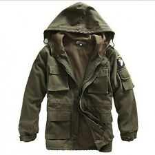 Fashion Men's Winter Warm Coat Hooded Parka Outerwear Zip Up Jacket Windbreaker