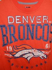 DENVER BRONCOS Retro T-Shirt with Vintage Print - Orange