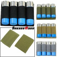 Tactical Hunting 4 Round 12GA Shotgun Shell Bullet Holder Ammo Carrier Pouch