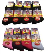 12 Pairs of Ultimate Ladies Thermal Socks, Warm Thick Winter Socks, Size 4-7