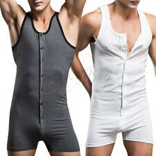 Sexy Lingerie Top Mens One piece Stretch Bodysuit Leotard Boxer Briefs Underwear