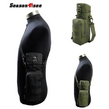 Tactical Molle Water Bottle Bag Hydration Kettle Pouch Holder w/ Shoulder Strap