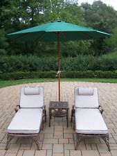 Oakland Living Mississippi 5 Piece Lounge Seating Group Set