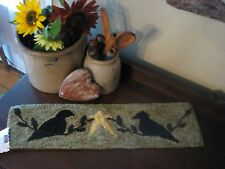 """PRIMITIVE RUG HOOKING KIT ON MONKS ~ """"2 CROWS AND A STAR"""""""