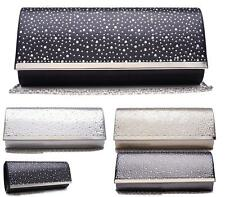 LADIES WOMENS DIAMANTE SMALL EVENING PURSE BRIDAL PROM CLUTCH BAG