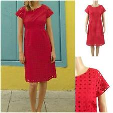 New X White Stuff Paradise Red Broderie Anglais Empire Line Tunic Tea Dress 8-18