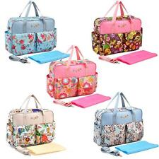 Baby Nappy Changing Bag Mummy Shoulder Handbag Diaper Bag Water Resistant P2R9