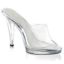Clear Posing Drag Queen Pageant Heels Tranny Shoes Large Womans size 13 14 15