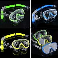New Adult Glass PVC Swimming Swim Diving Scuba Anti-Fog Goggles Mask & Snorkel