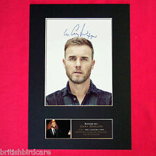 GARY BARLOW Signed Autograph Mounted Photo REPRODUCTION PRINT A4 402