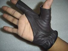 TRADITIONAL BOW SHOOTING LEATHER GLOVE TOP QUALITY GLOVE 100% REAL LEATHER
