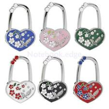 Heart Flower Folding Bag Handbag Purse Table Hook Hanger Holder Gift 6 Colors