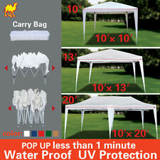 10x10/20/30 BBQ Gazebo Pavilion White Canopy Wedding Party Tent With Carry Bag