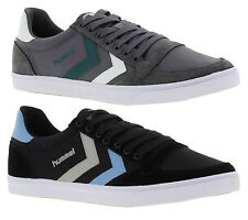 Hummel Slimmer Stadil Duo Lo Mens Canvas Shoes Trainers Size UK 7-13