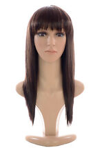Shoulder Length Razor Straight Dallas Wig with Fringe | 4 Shades