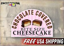 "Chocolate Covered Cheesecake Bites 12"" Vinyl Decal Concession Trailer Sticker"