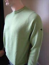 Super Soft 100% Acrylic Men's Crew Neck Golf Jumper Lime Green S,M,L,XL,XXL New