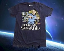 New Star Trek Spock Trek Your Self Before You Wreck Yourself Graphic T-Shirt