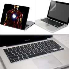 "Iron Man Rubberized Hard Case Cover +KB +SP For Macbook Pro Air 11"" 12"" 13"" 15"""