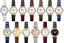 Limit Classic Stone Set Dial Ladies Watch with Choice of Leather Strap - Date