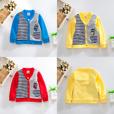 Miomao Cotton V-Neck Cardigan Button Pocket Kids Coat Outerwear Tops Spring Fall
