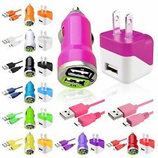 Travel Wall Charger+2A Car DC Charger Accessory Cable Cord For Cellphone Mobile