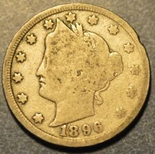 1896 Liberty Head V Nickel Five Cents Better Date Free Ship