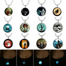 Steampunk Glow in the Dark Pendant Necklace Stainless Steel Chain Halloween New