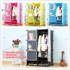 DIY Wardrobe Cabinet Shoe Rack Portable Storage Bookcase Clothing Toy Organizer