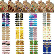 Nice Colorful Floral Nail Art Decals Full Nail Wraps Stickers Water Transfer