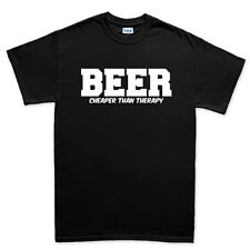 Beer Therapy Drinking Glass T shirt - Funny Slogan Gift Present Tee T-shirt