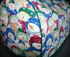 Packed Snowman Quilted Fabric 2-Slice or 4-Slice Toaster Cover NEW