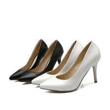 Women's Pointed Shoes Synthetic Leather Stilettos High Heels Pumps AU Size S111