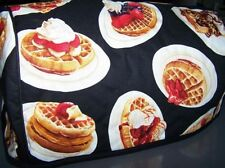 Breakfast Waffles Quilted Fabric 2-Slice or 4-Slice Toaster Cover NEW