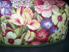 Flower Garden Quilted Fabric 2-Slice or 4-Slice Toaster Cover NEW