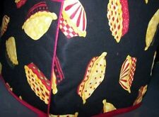 Pies on Black Quilted Fabric 2-Slice or 4-Slice Toaster Cover NEW