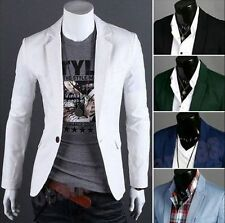 Vogue Men's Boy Casual Slim Fit One Button Suit Blazer Coat Jacket Tops 8Colors