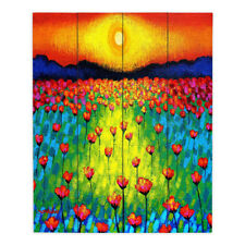 DiaNoche Designs Sunlit Poppies by John Nolan Painting Print Plaque