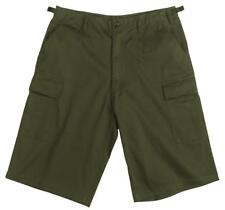 Extra Long Olive Drab  BDU Cargo Shorts, Big and Baggy