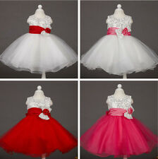 New Baby & Girl's Country Party Floral Tutu Wedding Flower Girl Easter Dress