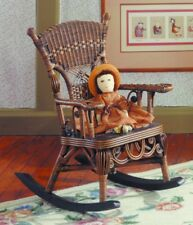 Yesteryear Wicker Victorian Millie Child's Cotton Rocking Chair