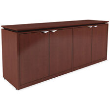 MODERN 4 DOOR OFFICE CREDENZA Storage Cabinet Conference Cherry Mahogany Wood 72