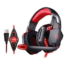 USB 3.5mm Surround Stereo Gaming Headset Headband Headphone 7.1 Channel with Mic